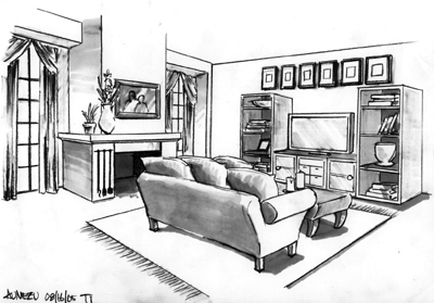 living room sketches pinterest